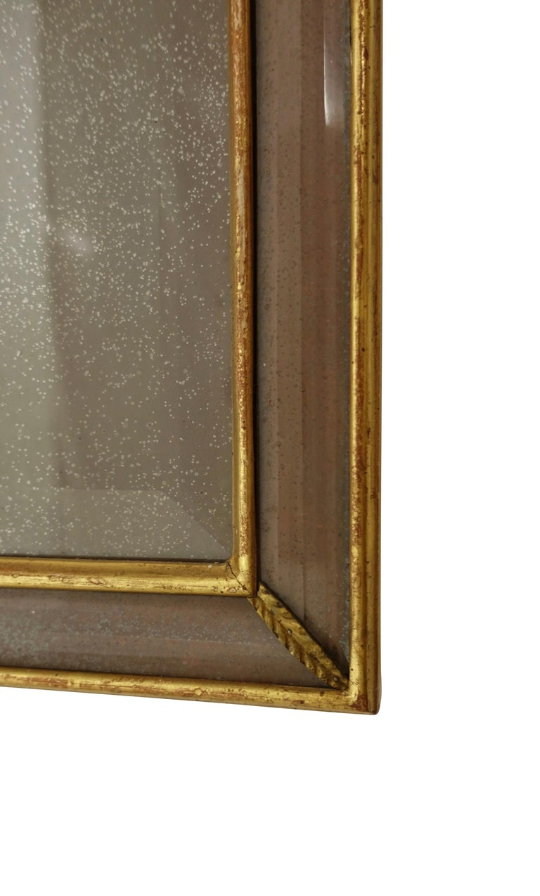 Pair of Georgian Pier Mirrors with Gilt Frame and Etched Glass For Sale 3