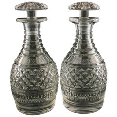 Pair of Georgian Port Decanters, 19th Century