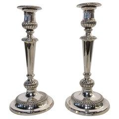 Pair of Georgian Sheffield Candlesticks