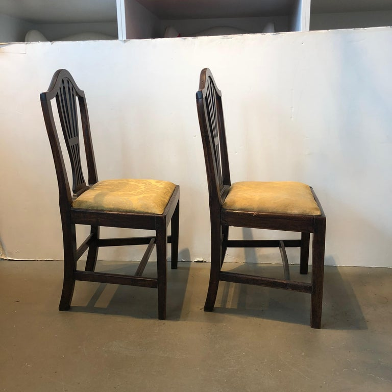 Pair of Georgianside chairs, late 18th/early 19th century.