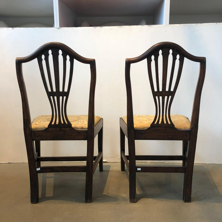 English Pair of Georgian Side Chairs For Sale