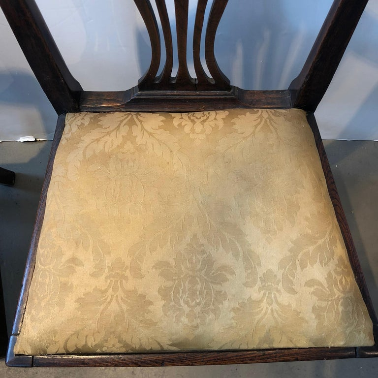 Oak Pair of Georgian Side Chairs For Sale