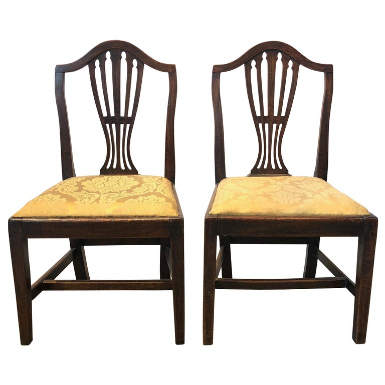 Pair of Georgian Side Chairs For Sale