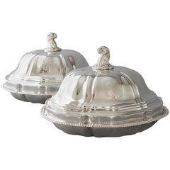 Pair of Georgian Silver Entree Dishes by Paul Storr, London, 1826