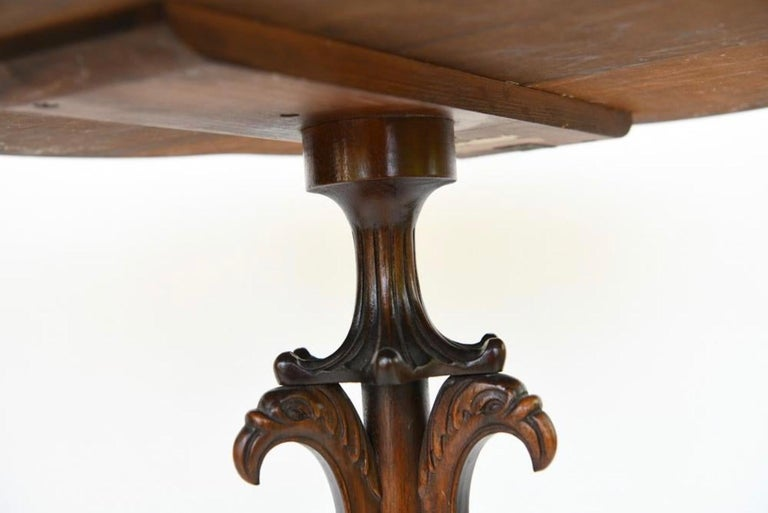 Pair of Georgian Style Mahogany Galleried Side Tables For Sale 2