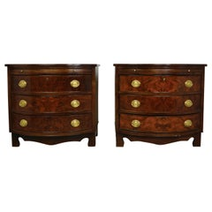 Pair of Georgian Style Walnut Bachelor Chests