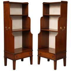 Pair of Georgian Style Waterfall Bookcases