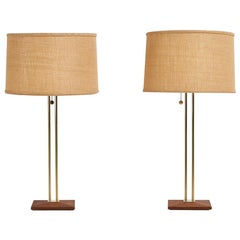 Pair of Gerald Thurston for Lightolier Table Lamps, 1950