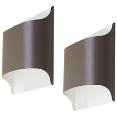Pair of German Architectural Wall Lamps by Staff, 1970s