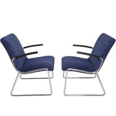 Pair of German Armchairs, Bauhaus, 1960s