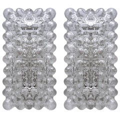 Pair of German Bubble Glass Sconces Wall Lights by Limburg, 1960s
