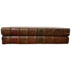 "Pair of German Leather Bound Books, ""Rerum Liturgicarum"" by Joannis Bona"