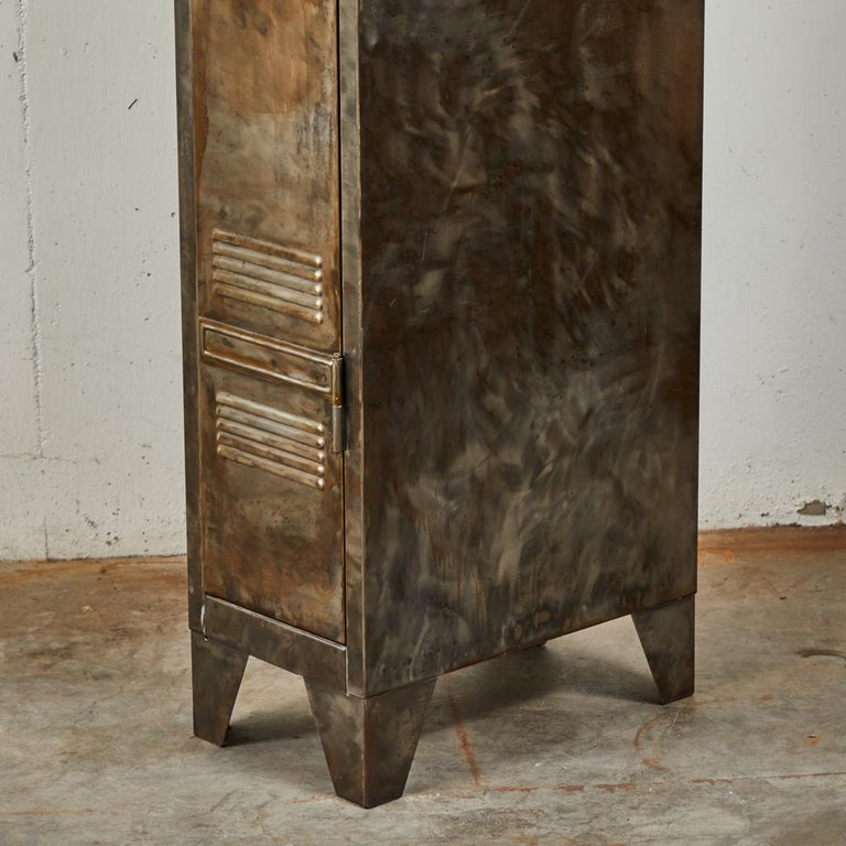 Pair of German Metal Lockers, circa 1940 For Sale 2