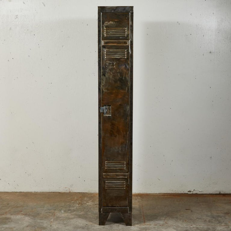 Pair of German Metal Lockers, circa 1940 For Sale 3