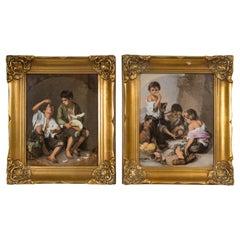 Pair of German Paintings on Porcelain