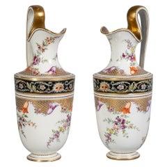 Pair of German Porcelain Ewers, Meissen, circa 1800