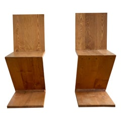 Pair of Gerrit Rietveld Zig Zag Chairs, 1960s
