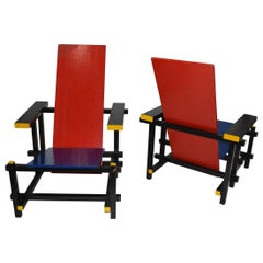 Pair of Gerrit Thomas Rietveld Chairs