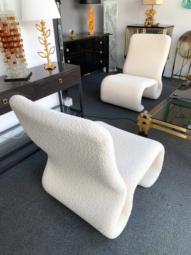 Pair of Ghost Armchairs. Italy, 1970s For Sale 4