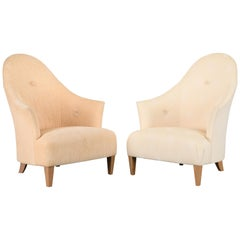 """Pair of """"Ghost Chairs"""" by Angelo Donghia, 1990s"""