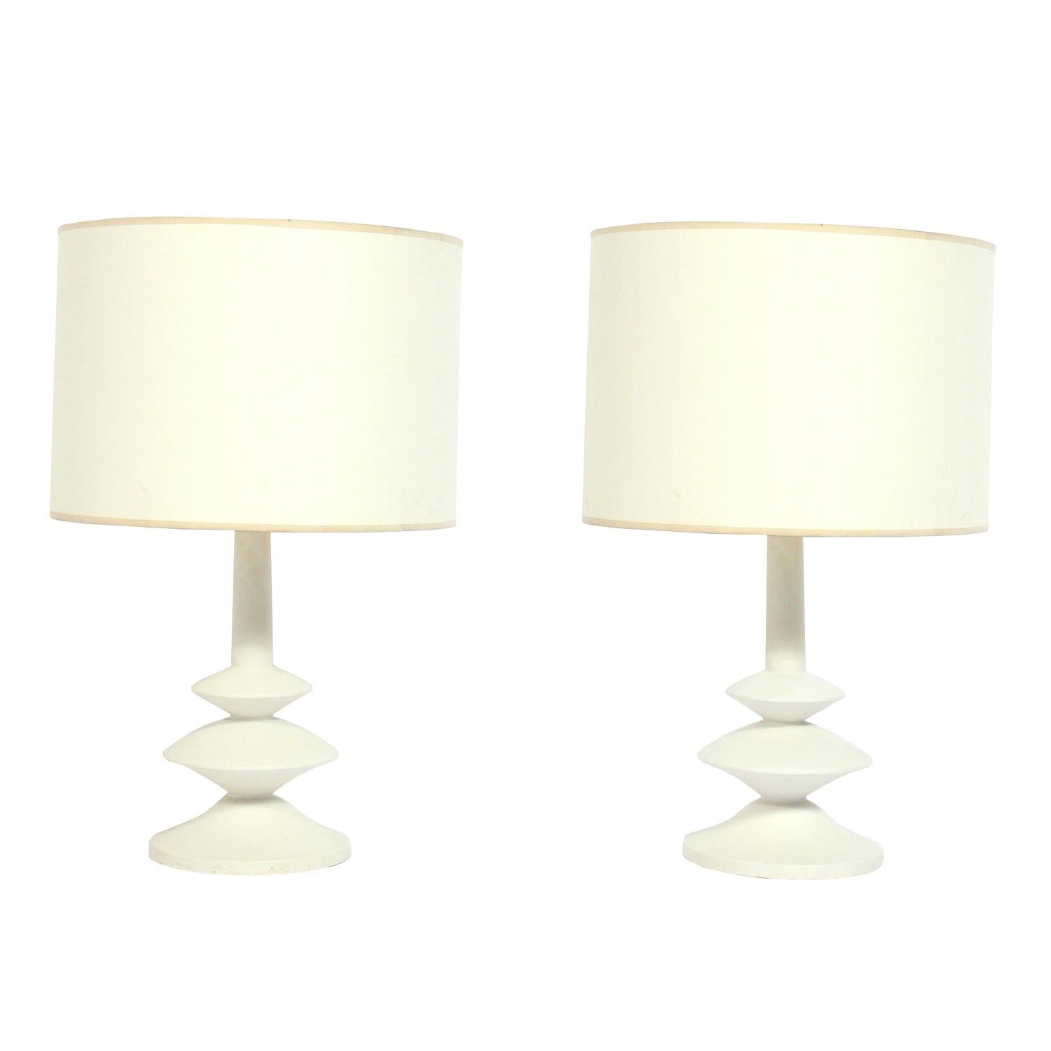 Pair of Giacometti for JMF Style Lamps by Sirmos, circa 1960s