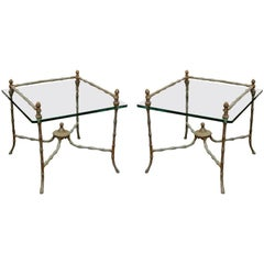 Pair of Giacometti Style End Tables