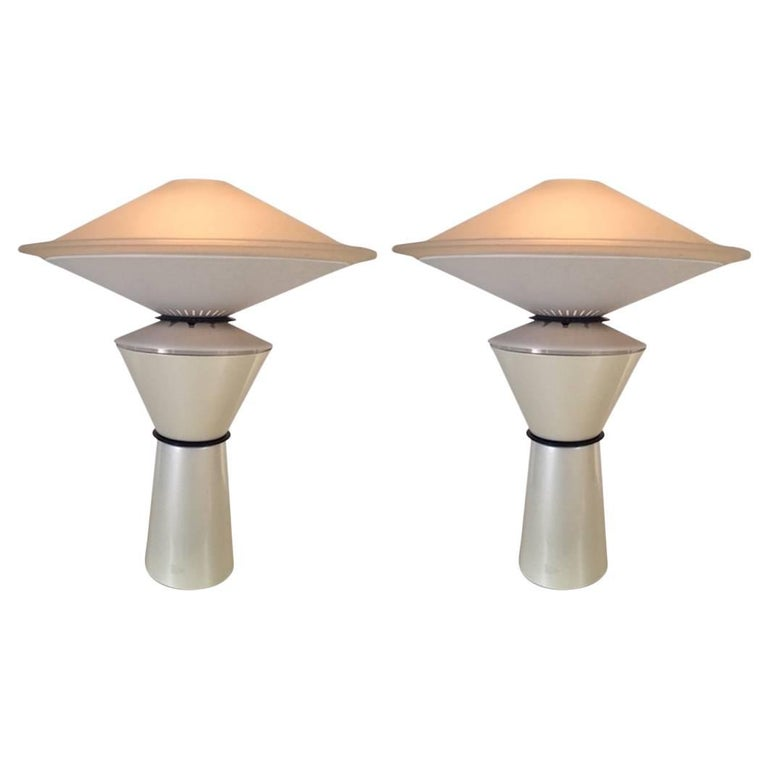 """Pair of """"Giada"""" Table Lamps Designed by Ramella for Arteluce For Sale"""
