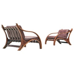 Pair of Giampiero Vitelli Lounge Chairs