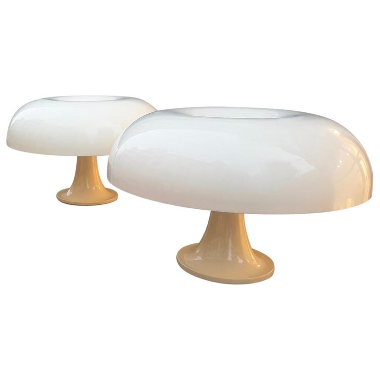 Pair of Giancarlo Mattioli Nesso Table Lamps by Artemide For Sale