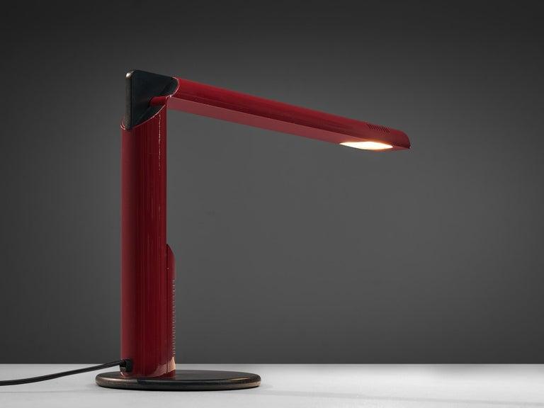 Aluminum Pair of Gianfranco Frattini 'Abele' Desk Lamps For Sale