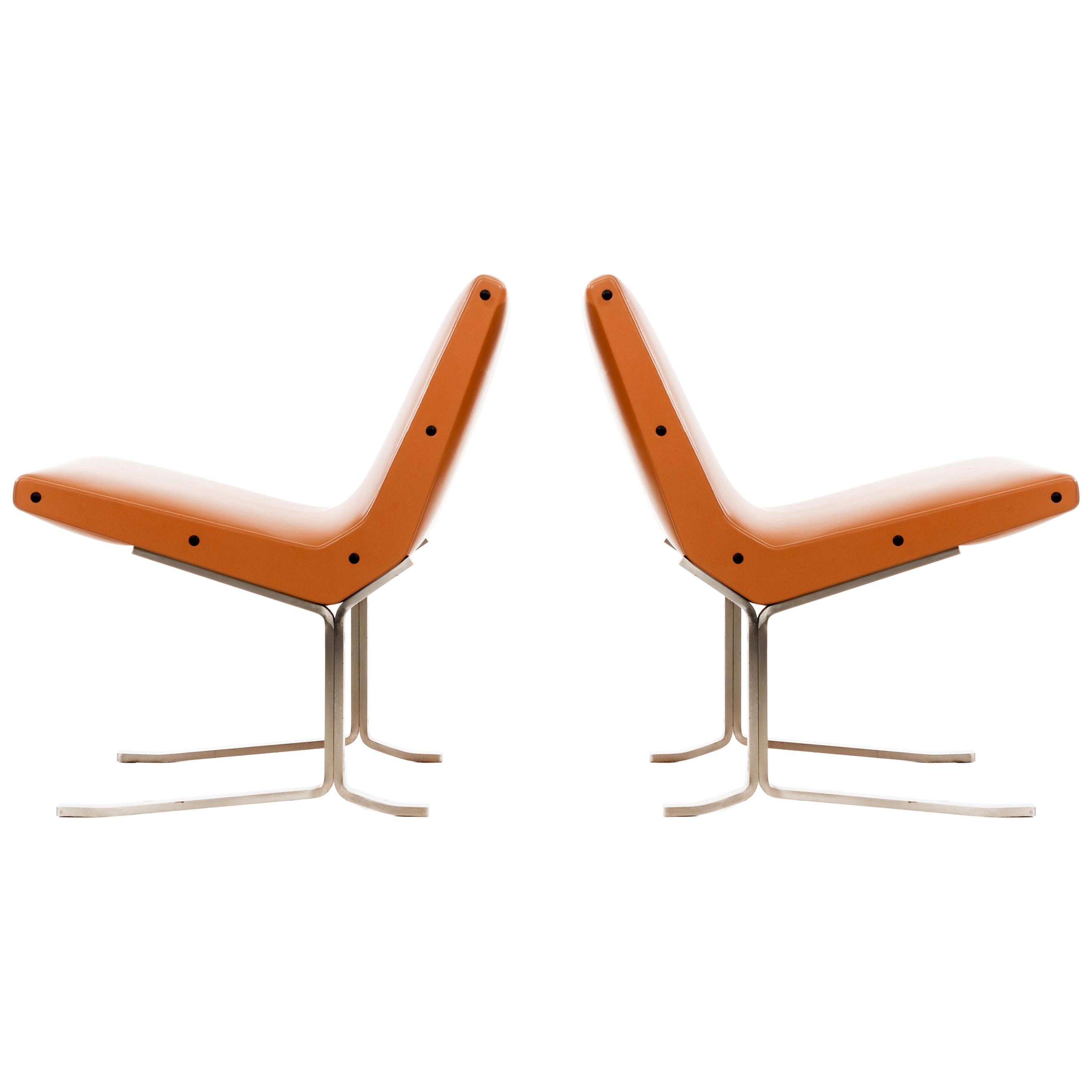 Pair of Gianni Moscatelli Lounge Chairs