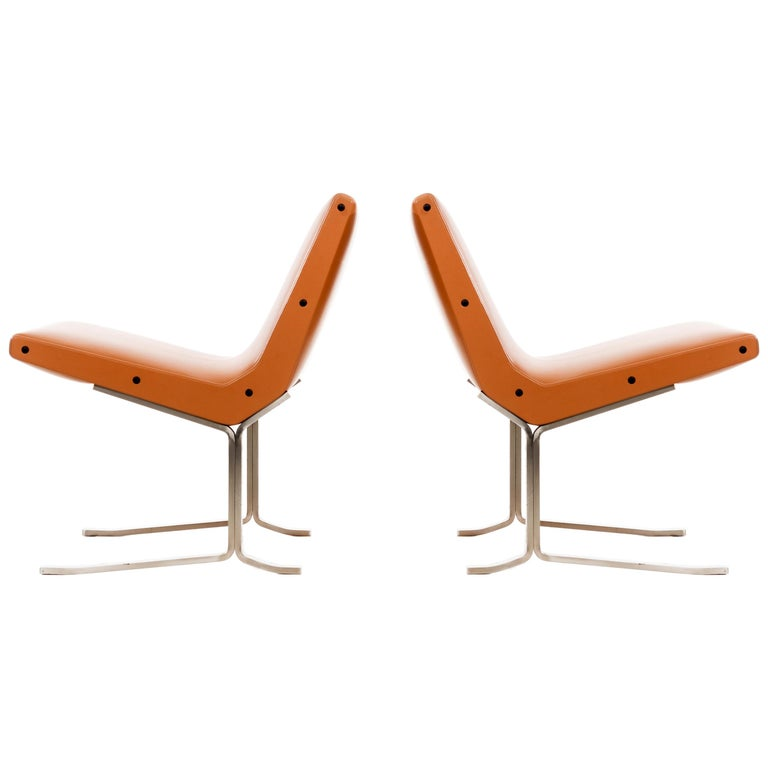 Pair of Gianni Moscatelli Lounge Chairs For Sale