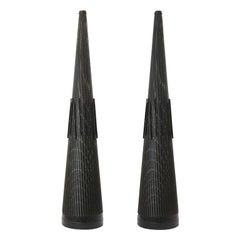 Pair of Giant Industrial Shredding Cones