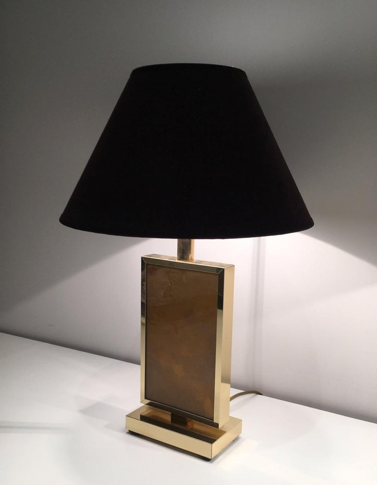 Gilt Pair of Gild Lamps, in the Style of Aldo Tura, circa 1970 For Sale