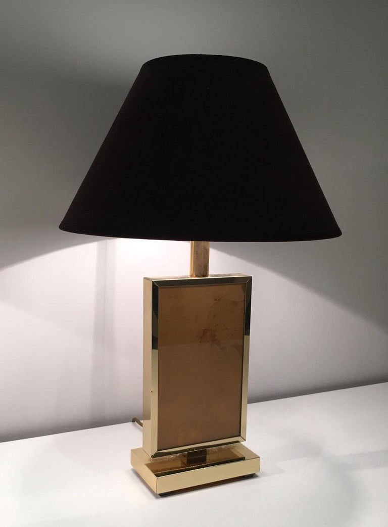 Pair of Gild Lamps, in the Style of Aldo Tura, circa 1970 In Good Condition For Sale In Marcq-en-Baroeul, FR