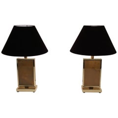 Pair of Gild Lamps, in the Style of Aldo Tura, circa 1970