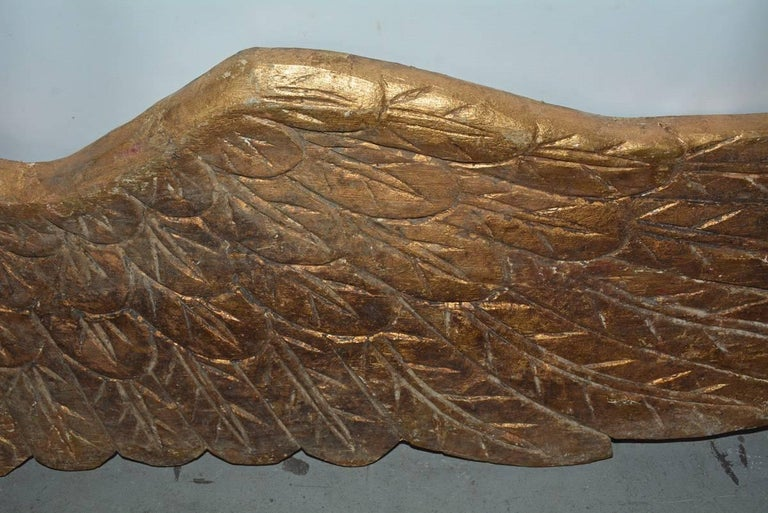 Pair of Gilded Angel Wings For Sale 4