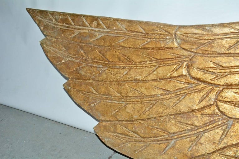 American Pair of Gilded Angel Wings For Sale