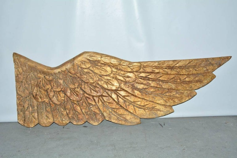 Pair of Gilded Angel Wings For Sale 1