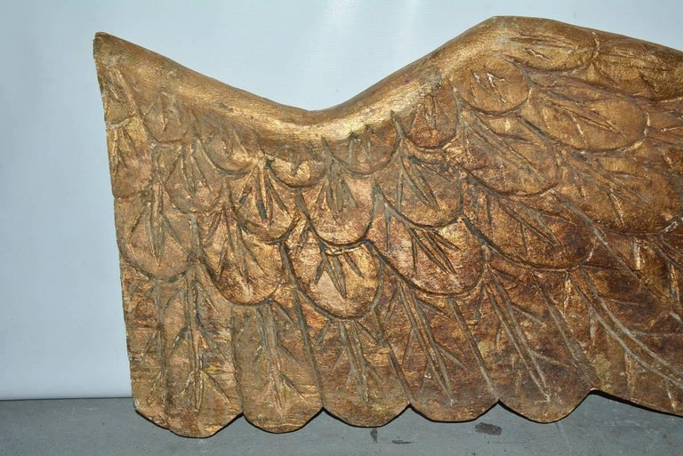Pair of Gilded Angel Wings For Sale 2