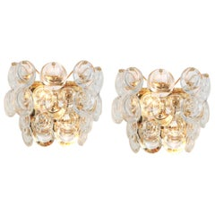 Pair of Gilded Brass and Crystal Sconce, Sciolari Design, Palwa, Germany, 1960s