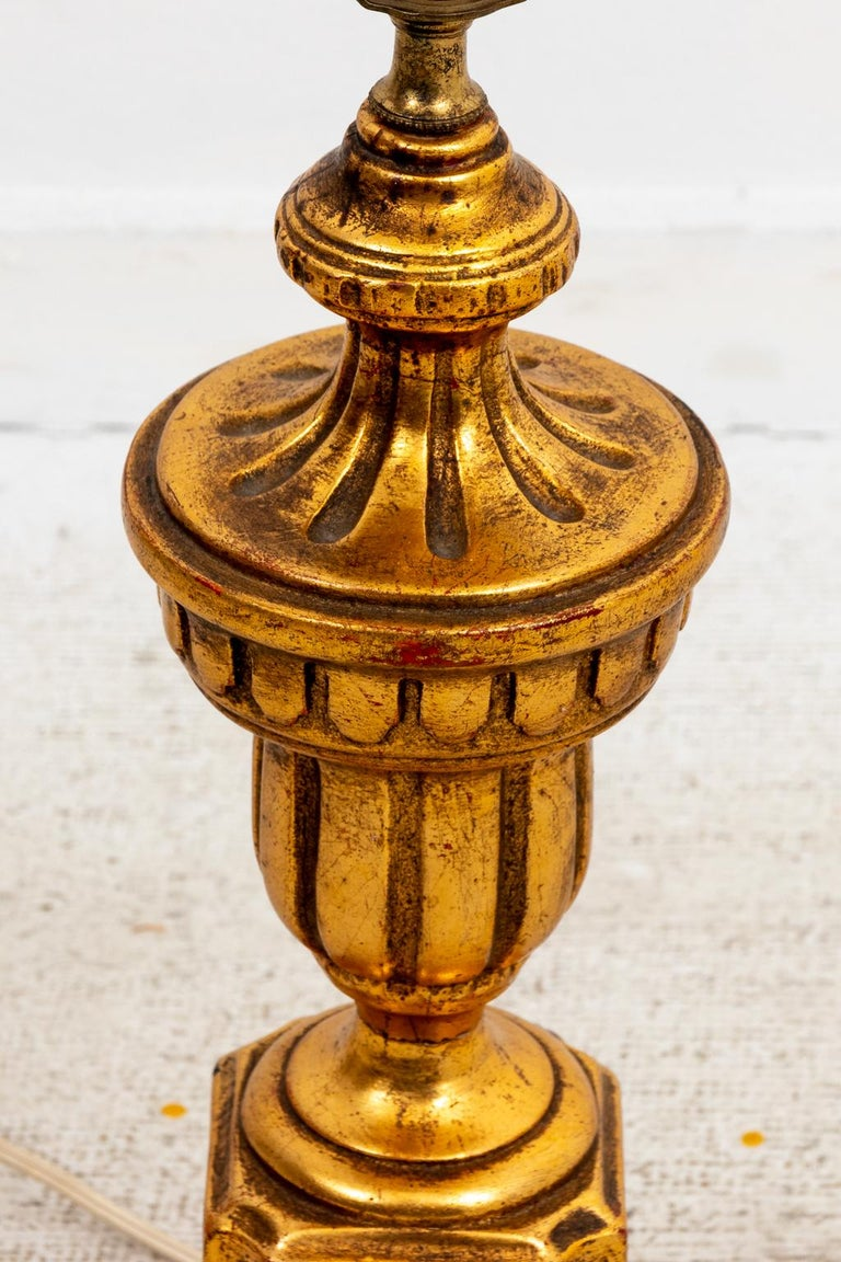 Pair of Gilded Italian Lamps For Sale 4