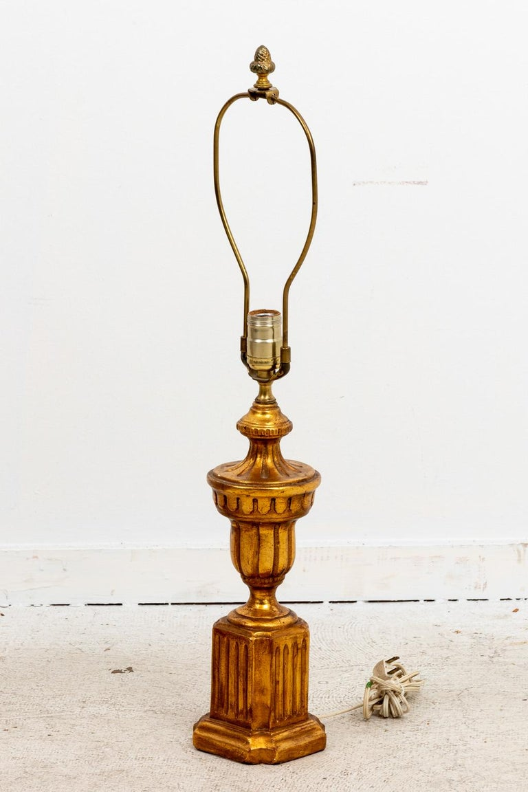 20th Century Pair of Gilded Italian Lamps For Sale