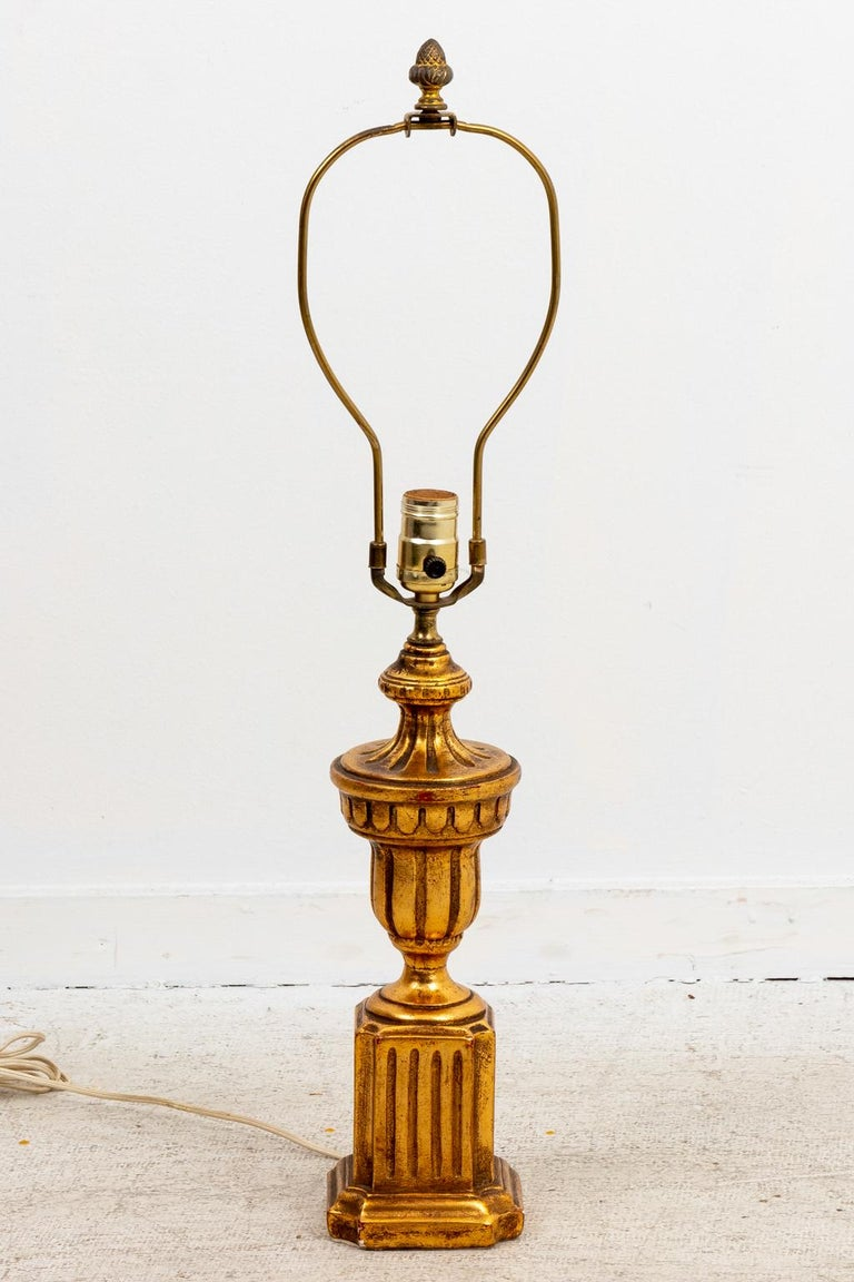 Pair of Gilded Italian Lamps For Sale 2