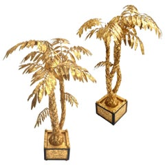 Pair of Gilded Palm Tree Center Piece, Hand Craft Work Elegant and Decorative