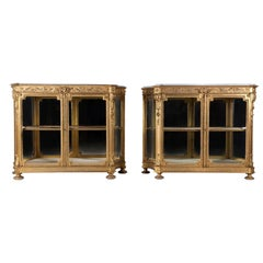 Pair of Gilded Side Cabinets