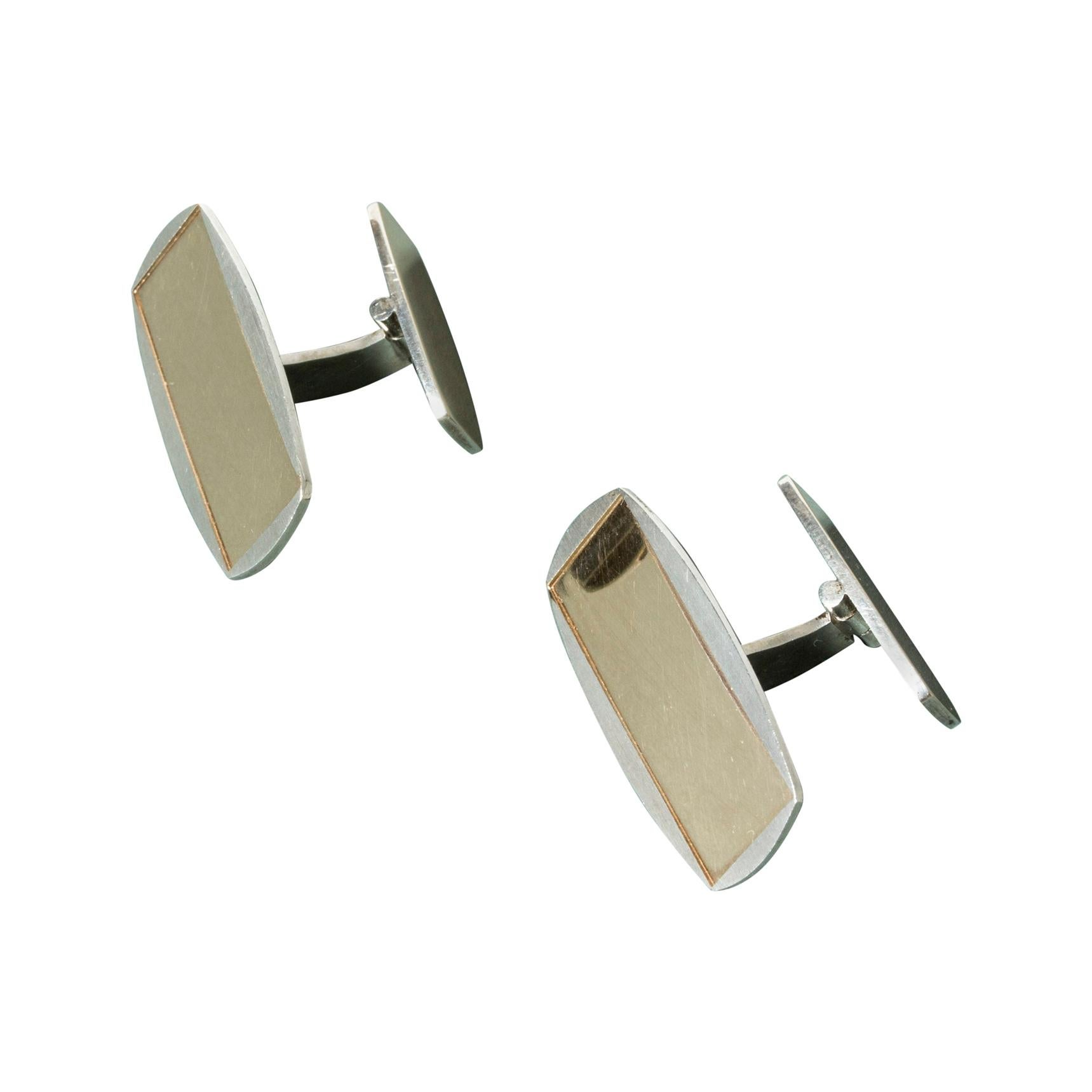 Pair of Gilded Silver Cufflinks from Alton