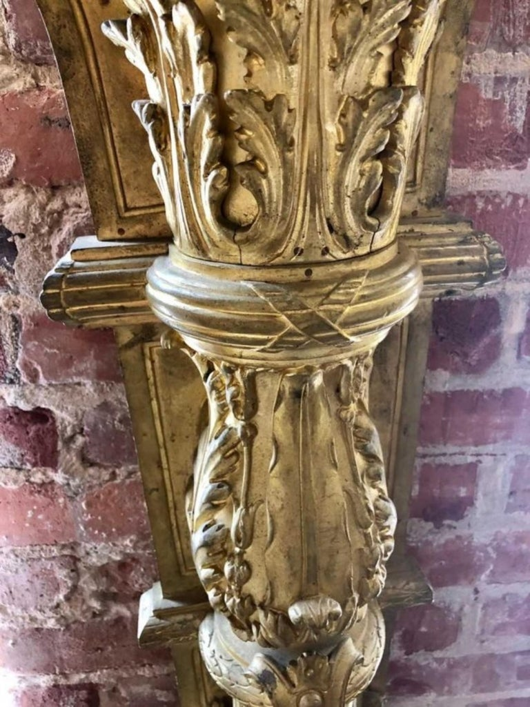 Pair of Gilt-Bronze and Marble-Top Figural Pedestals For Sale 3