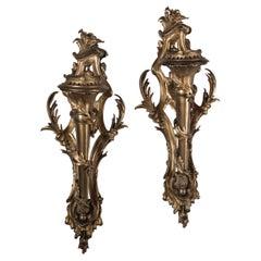 Pair of Gilt Bronze Sconces