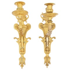Pair of Gilt Bronze Swedish Wall Sconces